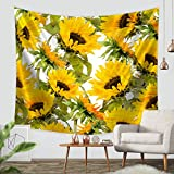 "Tapestry by ZBLX, Sunflowers Forever Tapestry Wall hanging-Light-weight Polyester Fabric Wall and Home Decor. (51.2""X59.1"")"