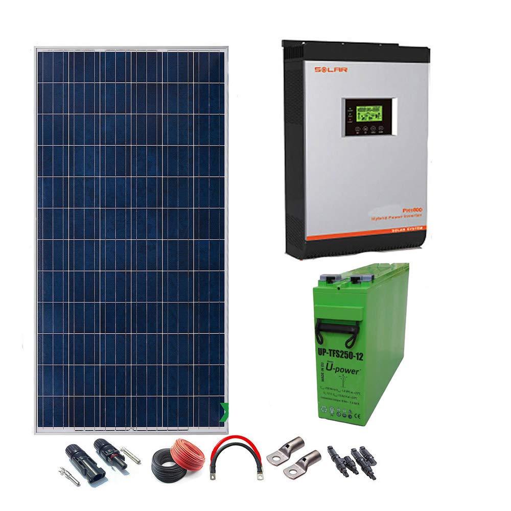 Kit Solar 24v 1800w/9000w día Inversor Multifunción 5kva Regulador ...