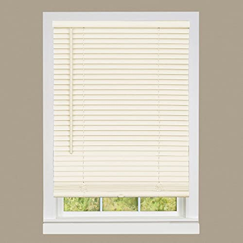 PowerSellerUSA Cordless Window Mini Blinds 1″ Slats Room Darkening Vinyl Blind