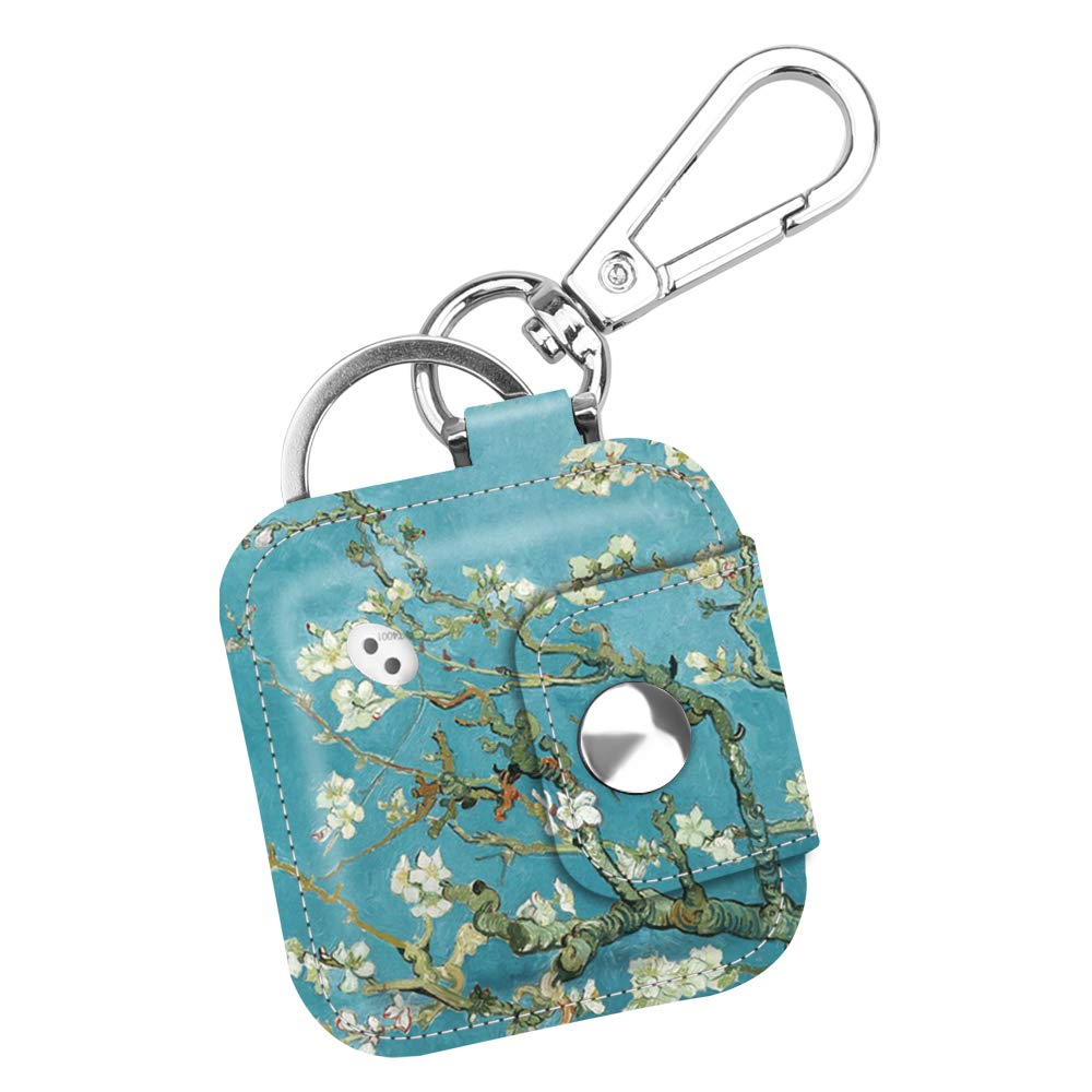 2016 /& 2018 Emerald Illusions // Tile Pro//Tile Sport//Tile Style Key Finder Fintie Case with Carabiner Keychain for Tile Mate Anti-Scratch Vegan Leather Protective Skin Cover with Speaker Cutout