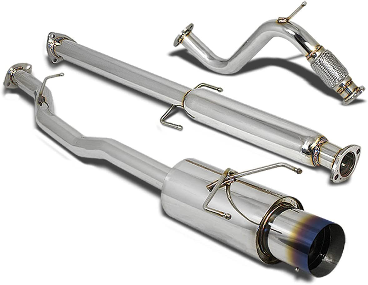 DNA Motoring CBEHA94L4BT Catback Exhaust System For 94-97 Honda Accord 4-Cyl
