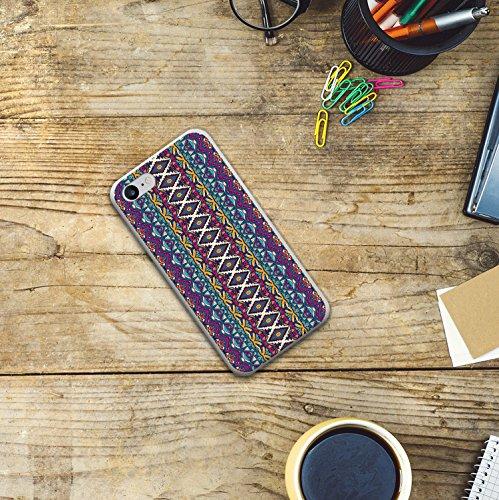 iPhone 8 Hülle, WoowCase Handyhülle Silikon für [ iPhone 8 ] Abstraktes Stoffsmuster Handytasche Handy Cover Case Schutzhülle Flexible TPU - Transparent