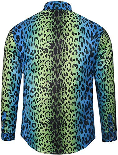 05 Maniche Lussuosa Stampa Pizoff Uomo A Camicia Barocco Lunghe Elegante Y1792 064WqvwUx