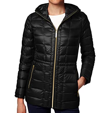 extremely unique new photos special buy Amazon.com: MICHAEL Michael Kors Hooded Packable Down Puffer ...