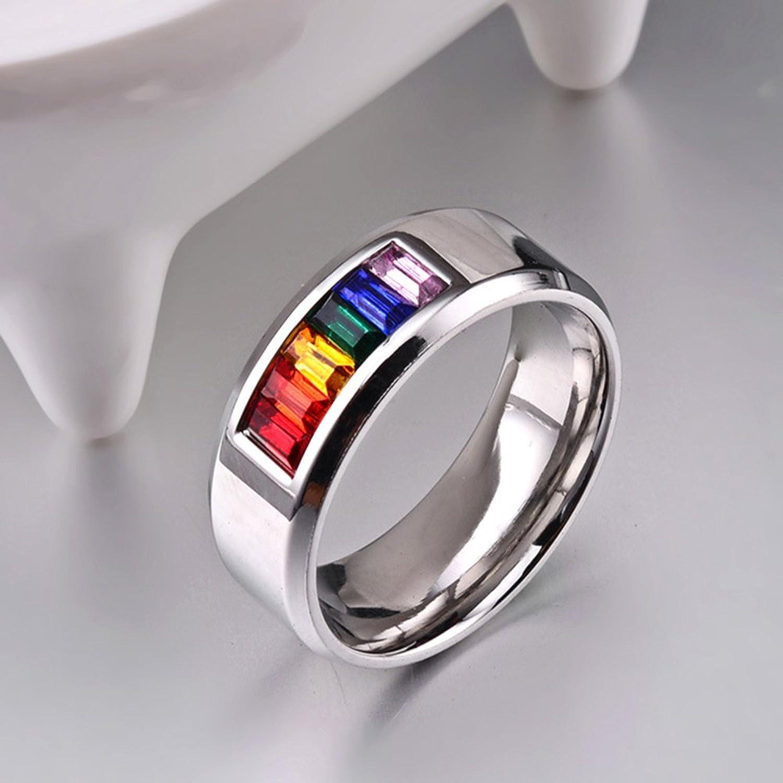 jajafook stainless steel rings mens womens wedding pride lgbt