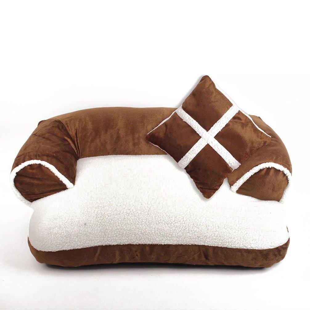 LA VIE Cama Sofá para Mascotas Lavable Extraíble con Almohada Colchoneta Cama Nido Suave Acogedor para Perros Pet Dog Bed L en Marrón: Amazon.es: Productos ...