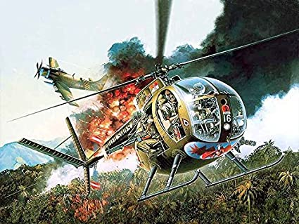 Amazon com: Dragon 1/35 Vietnam War US Army small helicopter