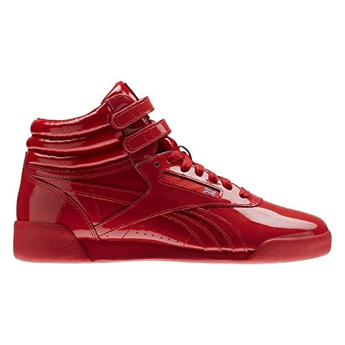 79206955ed9 Reebok Kids Freestyle HI Patent Leather - CN2078 - Color Red - Size  4.5   Amazon.co.uk  Shoes   Bags