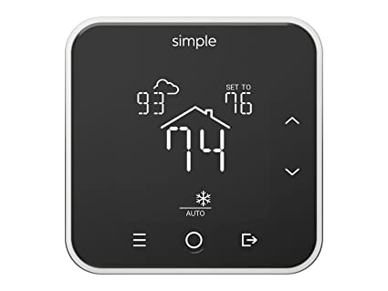 The Simple Thermostat, Energy Star Wi-Fi Smart Thermostat With Mobile App, 7
