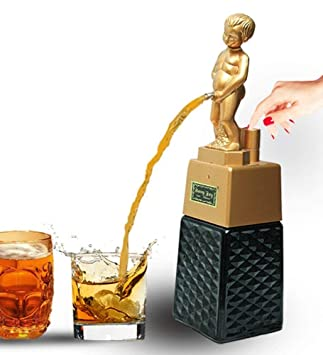 barraid Bonny Boy cuadrado dorado dispensador de licor 500 ml de capacidad: Amazon.es: Hogar