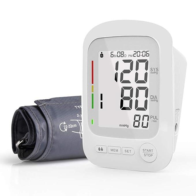 RegeMoudal Monitor de presión arterial automático,Tensiometro del brazo superior,lecturas de presión arterial rápidas, cómodas y precisas, con detección del ...