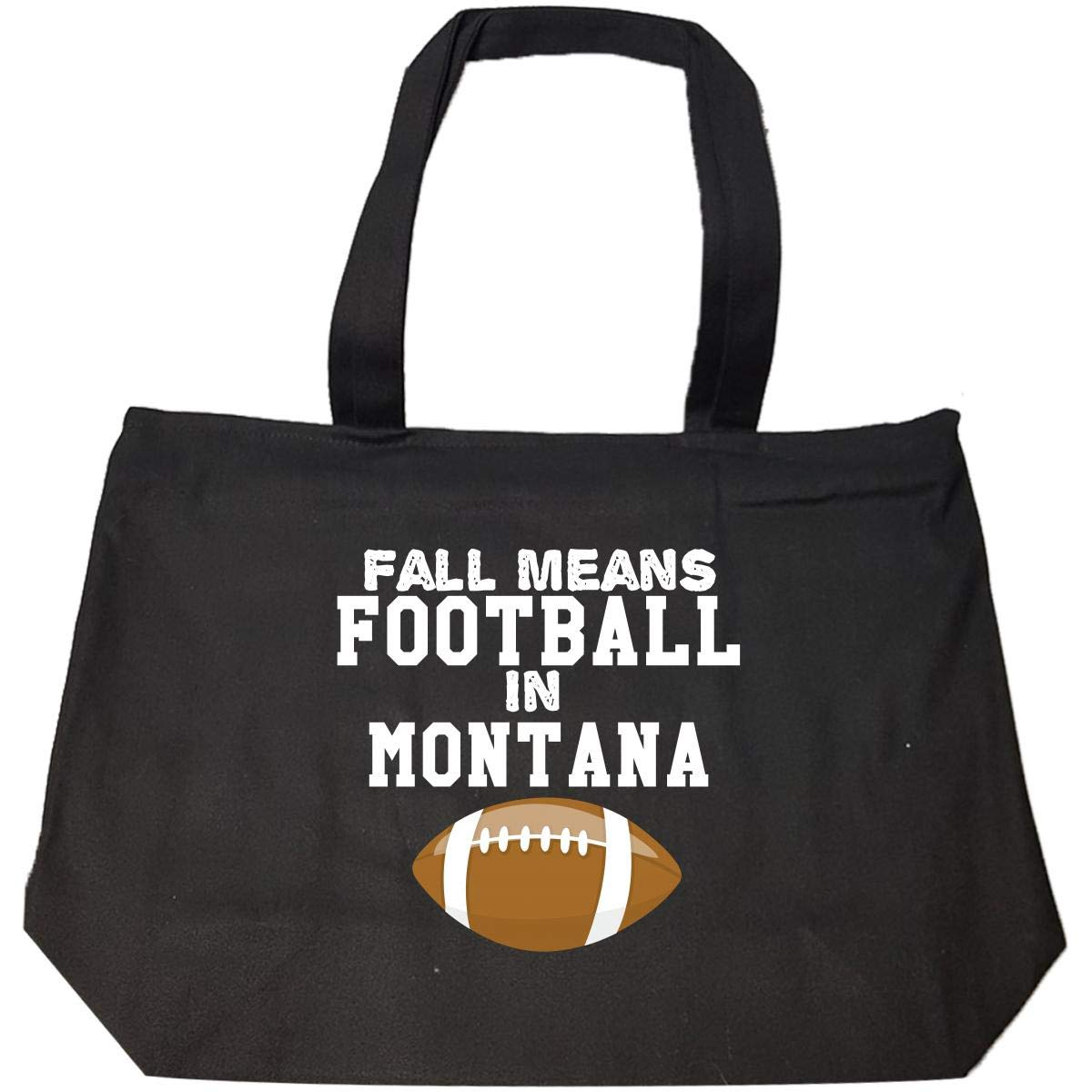 Fall Means Football In Montana Tote Bag With Zip