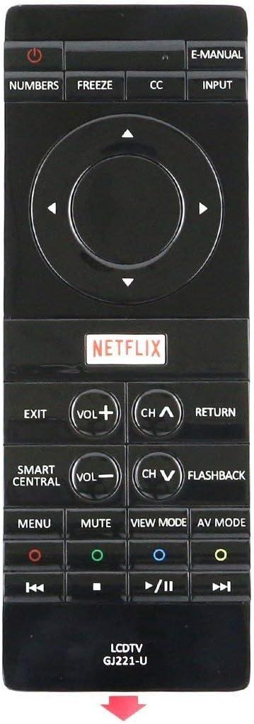 Smartby GJ221-U GJ221U Remote Control Works for Sharp LC-43UB30U LC43UB30U LC-50UB30U LC50UB30U LC-55UB30U LC55UB30U LC-65UB30U LC65UB30U 4K Smart TV