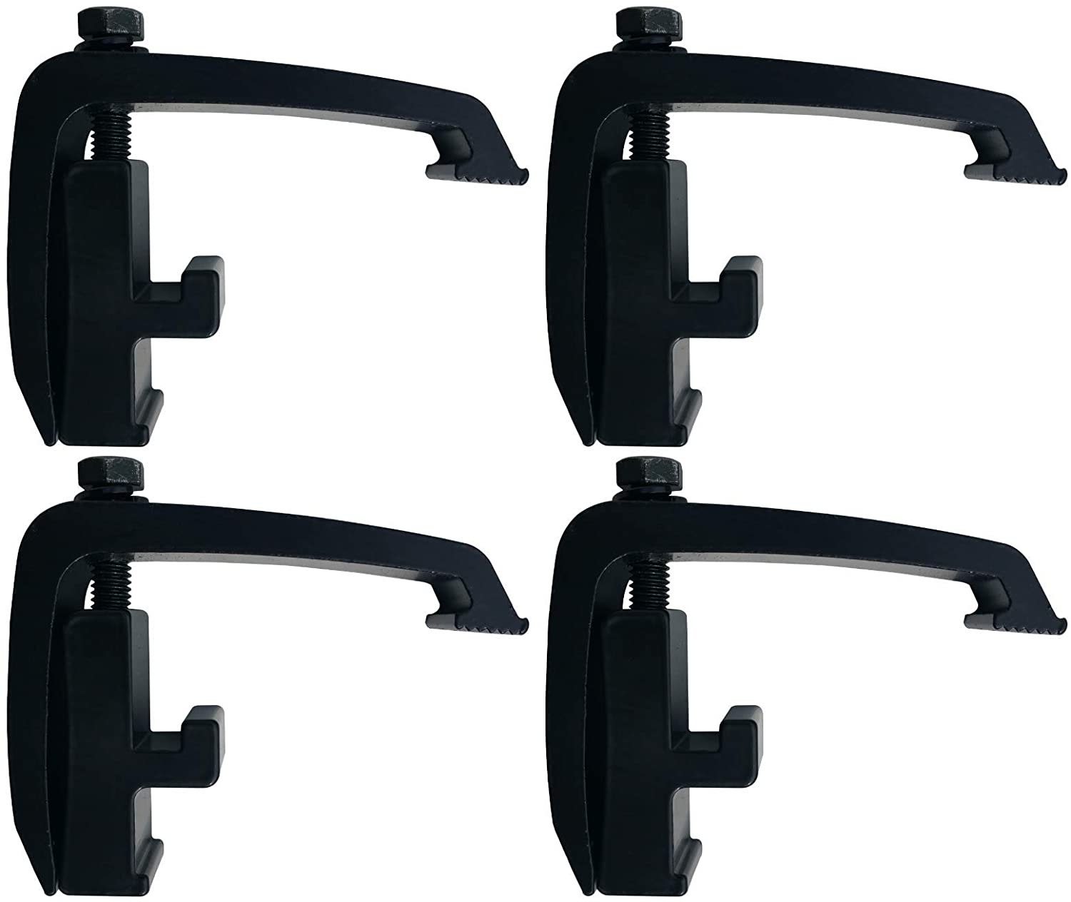 Nissan Titan Camper Shell Clamps API Clamps 6 Pack Black Toyota Tacoma Mounting Channel Track Truck Topper Cap