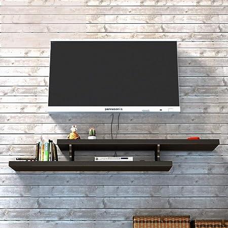 Soporte de TV para montaje en pared Soporte para televisor Soporte para componentes de pared Soporte para televisor montado en la pared Estante para almacenamiento de gabinete Estante para soporte de: Amazon.es: