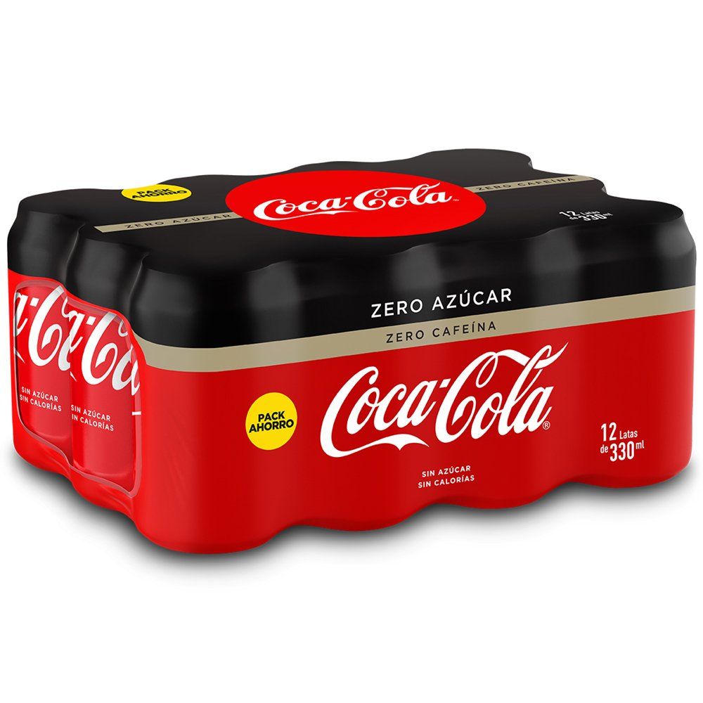 Coca-Cola - Zero Zero, Refresco con gas de cola, 330 ml (Pack de 12), Lata: Amazon.es: Amazon Pantry