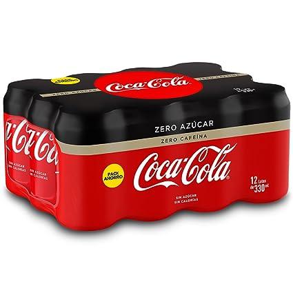 Coca-Cola Zero Zero Sin Cafeína y Sin Calorías - Lata 330 ml (Pack