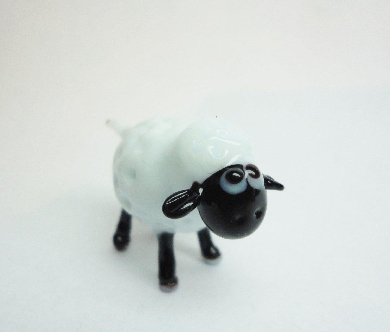 Glass sheep art glass sheep home decor glass sheep