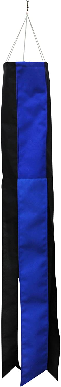 In the Breeze Thin Blue Line 40 Inch Windsock - Blue and Black Windsock honoring Police and Law Enforcement Officers