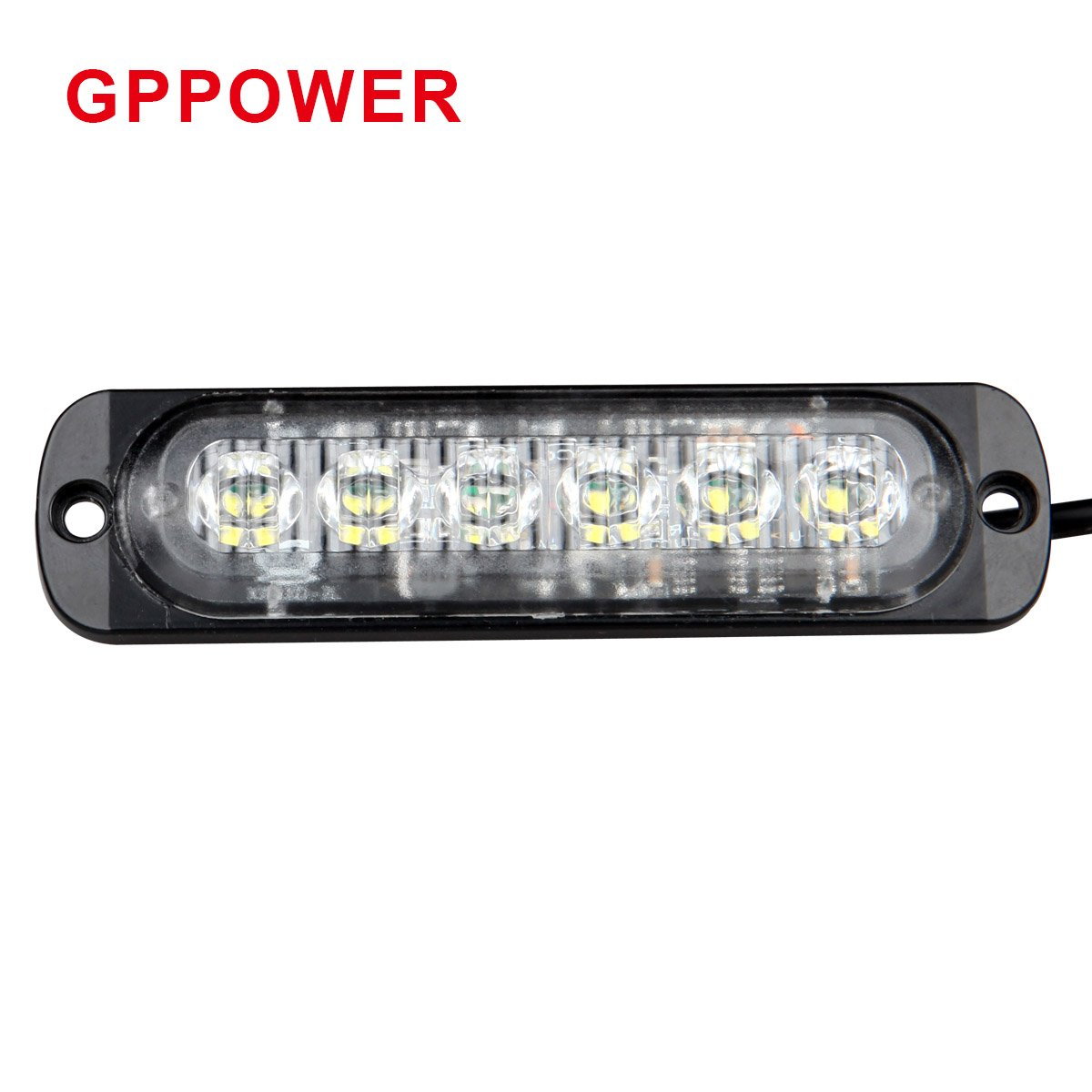Gppower Universal Super Thin 6 Led Blue 19 Flashing Mode Traffic Signal Head Wiring Diagram Car Truck Warning Caution Emergency Construction Strobe Light Bar 06t