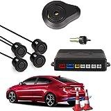 CAR ROVER® Car Capteur de Stationnement Auto Système Stationnement BiBi Alerte Sonore Buzzer Avec 4 Capteurs Noir