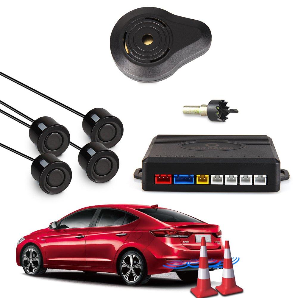 CAR ROVER® Car Capteur de Stationnement Auto Système Stationnement BiBi Alerte Sonore Buzzer Avec 4 Capteurs Gris Startway Autopart