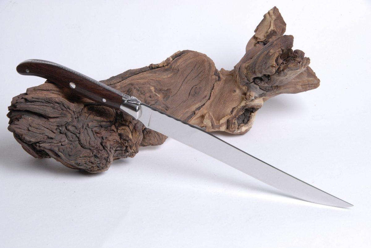 Claude Dozorme Cuchillo de trinchar en Vallernia de madera y ...