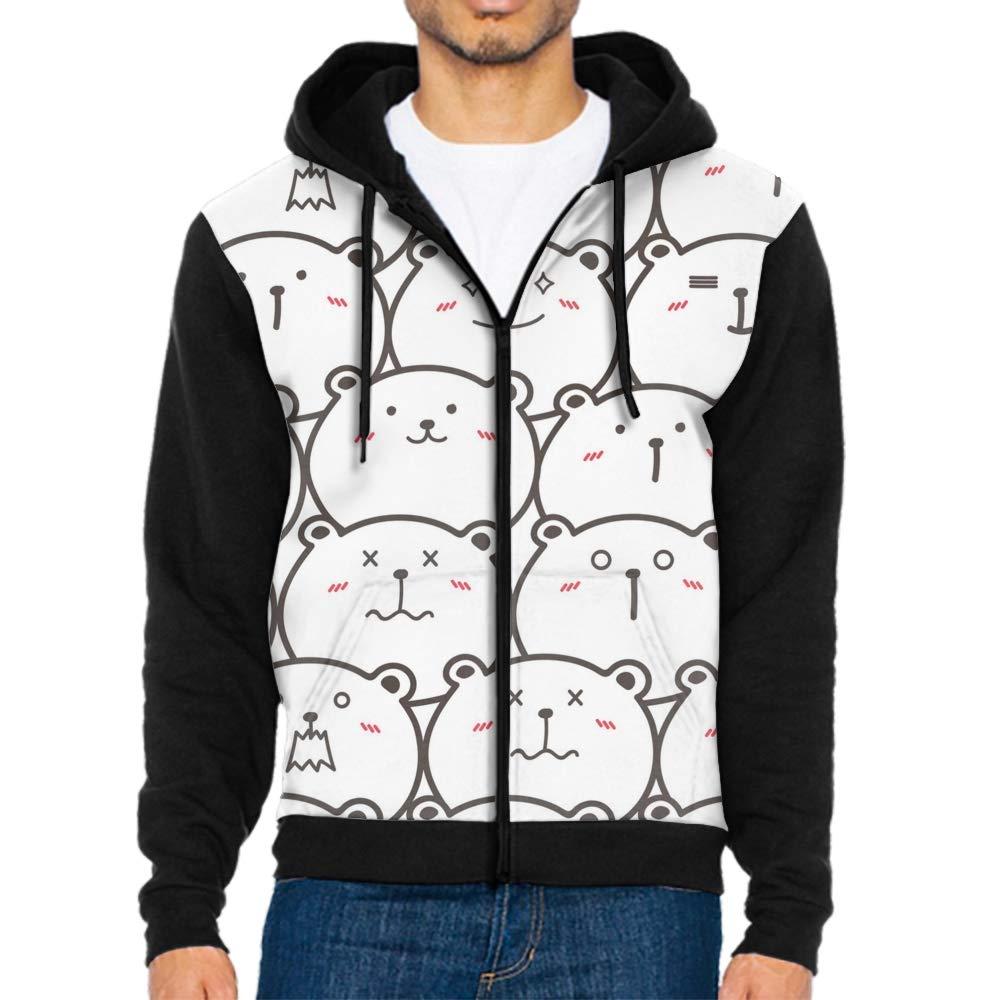 DORMA Bulldog Faces Cool Men Hooded Sweashirt Graphic Jacket Sweatshirt with Pockets