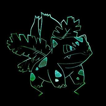 Axiba 3D Luces de la noche, semillas de ranas maravillosas 3D creativa de luz de