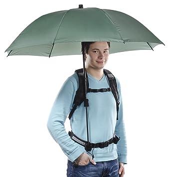 Walimex Pro Swing - Paraguas con soporte manos libres, color verde