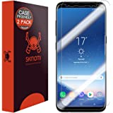 Galaxy S8 Screen Protector (2-Pack,Case Friendly), Skinomi TechSkin Full Coverage Screen Protector for Samsung Galaxy S8 Clear HD Anti-Bubble Film
