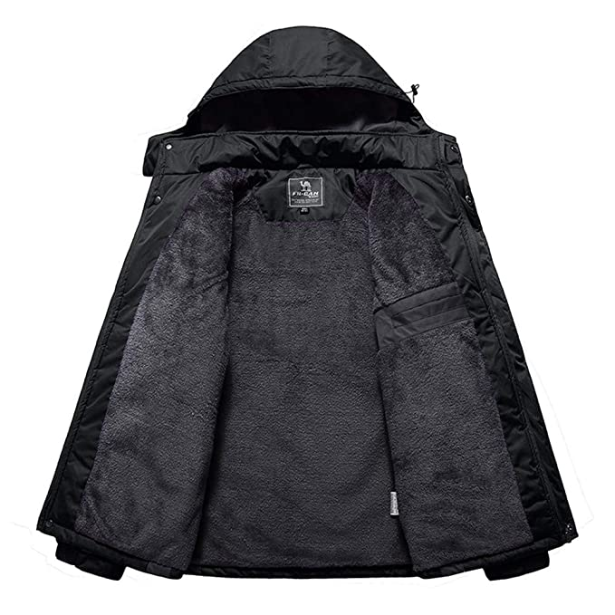Amazon.com: Easytoy Mens Winter Hoodies Waterproof Windproof Ski Jacket Outdoor Sportswear Insulated Snow Hooded Jacket Coat Outerwear: Sports & Outdoors