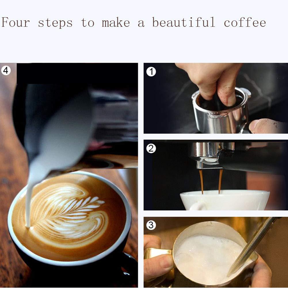 SYY-ES Máquina de café Oficina en casa Semiautomática Leche de ...
