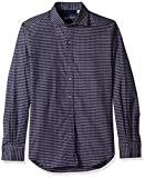 Robert Graham Men's Landen Tailored Fit Shirt, Navy, XLarge