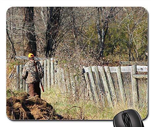 Mouse Pad - Hunter Deer Hunting Rifle Camouflage Hunt Gun ()