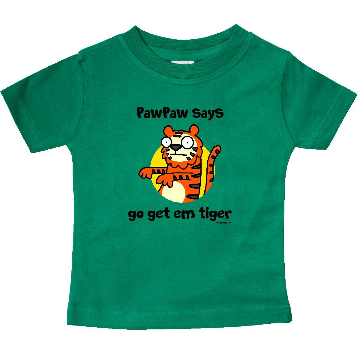 Flossy and Jim inktastic Paw Paw Says Go Get Em Tiger Baby T-Shirt