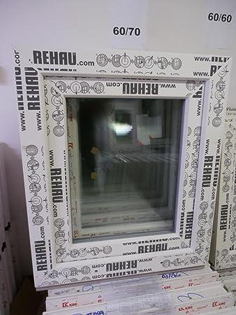 Neu Kunststofffenster 60 x 70 (b x h), Rehau, 1 flügelig, weiss, Din  LQ93