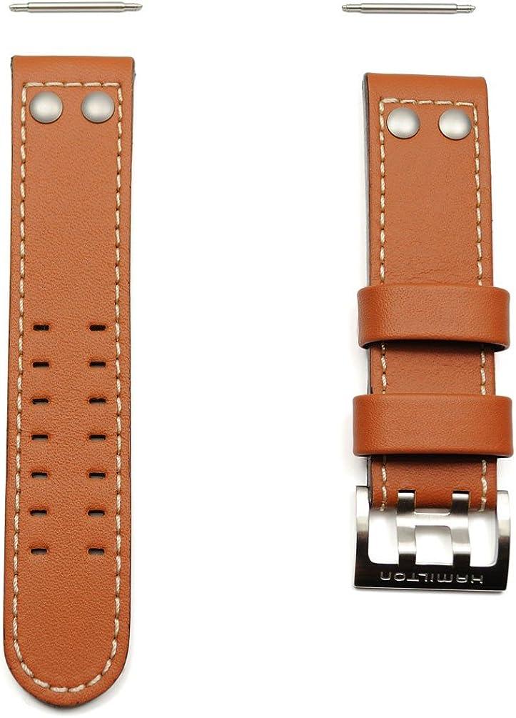 Correa Piel Reloj Hamilton Khaki X-Wind Genuina 22mm H600.776.103