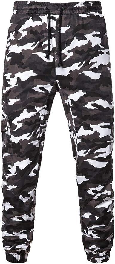 Pantalones para Hombre,Chándal de Hombres Camuflaje ...