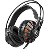 AudioMX Gaming Headset Over-Ear Headphones 7.1 Virtual Surround Sound USB Wired with Mic for PC PS4 Game Skype VOIP Music