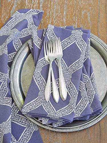 Saffron Marigold Victorian Lilac Trellis ~ Purple Lavender Cloth Dinner Napkins