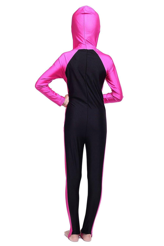 CaptainSwim Girls Long Sleeves One Piece Swimsuit Muslim Islamic Modest Swimwear