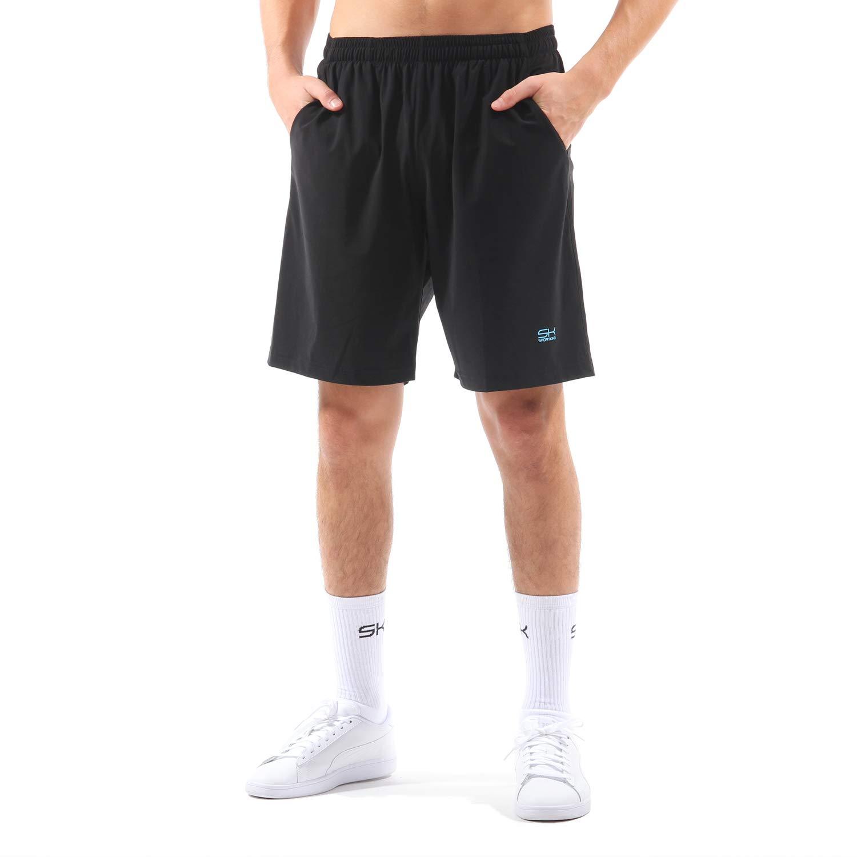 Sportkind Jungen & Herren Tennis/Training/Sport Shorts lang mit Innenhose, schwarz, Gr. M
