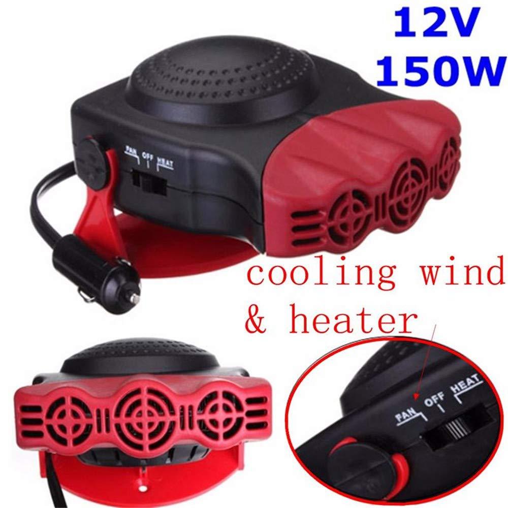 2 En 1 Coche Portátil Calentador De Calefacción Ventilador De Refrigeración Coche Estilo Eléctrico 12V Vehículo De Conducción Desempañador De Baja Ruido ...