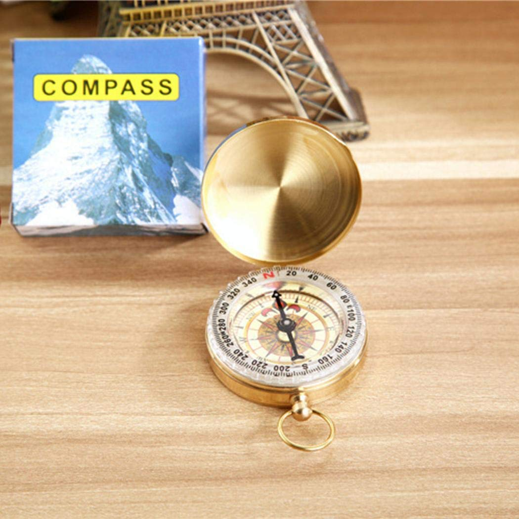 milene88 Portable Mini Compass Accurate Handy Guider Camping Survival Glow Compass Compasses