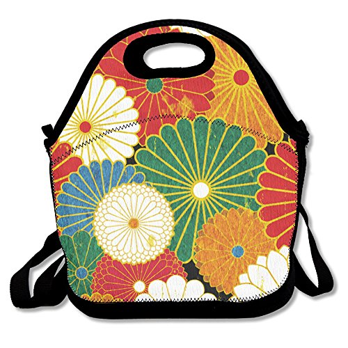 Flower Pattern Personality Drawstring Bags With Zipper And Adjustable Crossbody Strap
