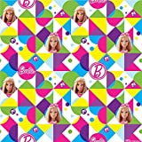 Amscan Barbie Sparkle Colorful Printed Gift Wrap Paper, Multicolored, 8' x 30 by Amscan
