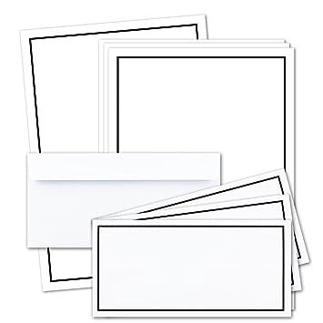 50x Trauer Papier Sets Din A4 Brief Papier Din Lang Trauer