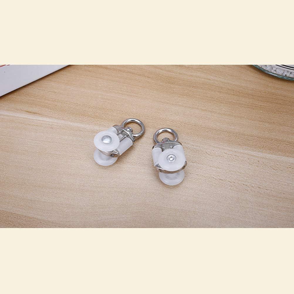 Vosarea Gancho de Rueda de Pista de Cortina de Ventana de Plástico para Ducha de Baño 20pcs: Amazon.es: Electrónica