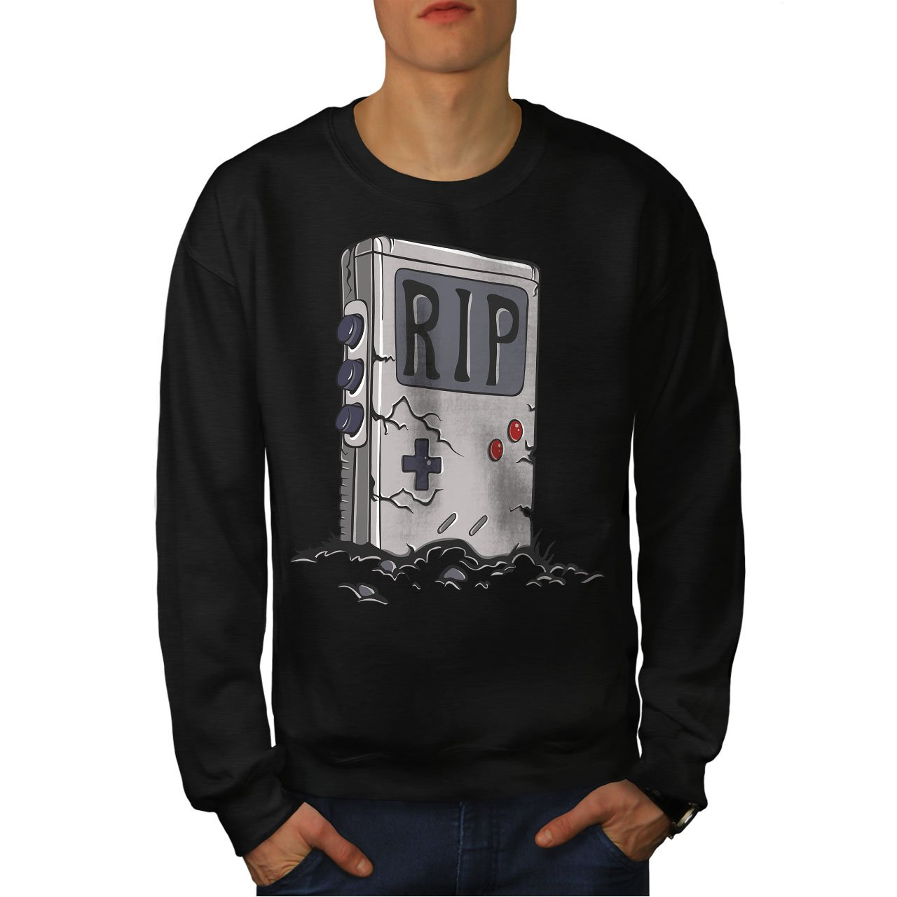 Live 90s Gaming Casual Jumper wellcoda Old Gameboy Mens Sweatshirt